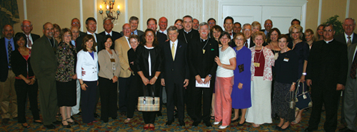 Members of Legatus' Colorado Springs Chapter gather with Bishop Michael Sheridan at their May 4 chartering ceremony