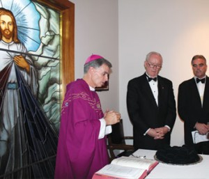 L-R: Bishop Thomas Daly, John Hunt, Ken hurley