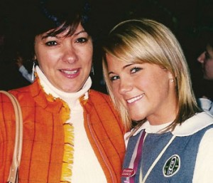 Linda Mullen and her daughter Kelly at Kelly's ring Mass in 2005 at Archbishop Prendergast High School