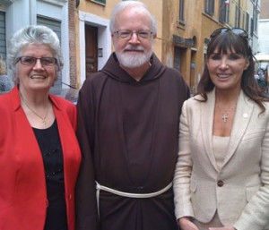 L-R: CGA president Maire Printer, Boston's Cardinal Sean O'Malley, CGA founder Catherine Wiley