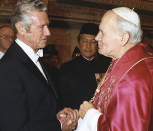 Frank A. Wilson with Pope John Paul II