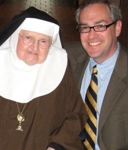Michael Warsaw poses with Mother Angelica