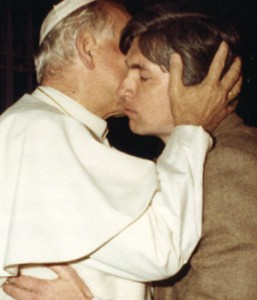 St. John Paul II embraces Legate Ralph Martin in May 1981