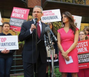 David Bereit and Lila Rose speak at late-term abortionist Cesare Santangelo's office in Washington, D.C.