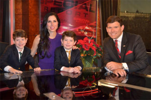 Bret Baier and his family on the Special Report set