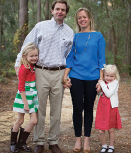 Laura Haslam and family of the Savannah Chapter.