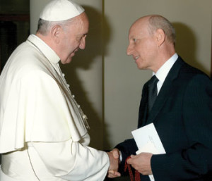 Henry Cappello meets with Pope Francis in 2013
