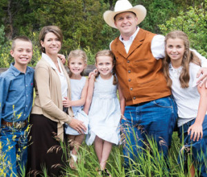 Legate Kevin Roberts poses with his wife Michelle and their four children (Kristy Cardinal)