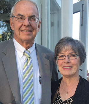 Dick and Kathy Faist, members of Legatus' Genesis Chapter, pose for a photo on Sept. 23, 2015, at Toledo Country Club