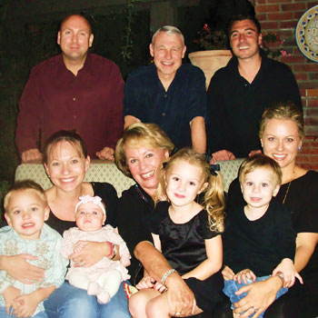 Richard and Sherry Van Meter with their children and grandchildren