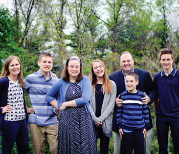 The Parker family (L-R): Deborah, Jacob, Sophia, Mary, Bill and Liam, Thomas (Christine Chardo Photography)