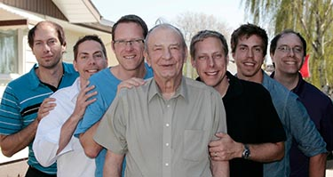 George Novecosky with his six sons in May 2012