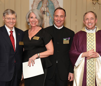 Murray and Patty Neilson pose with Legatus founder Tom Monaghan and Vancouver Archbishop J. Michael Miller at the chapter's chartering on March 3, 2016