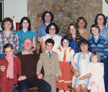 Paul's Uncle Ed and Aunt Dorothy adopted him and his seven siblings after his mother's death