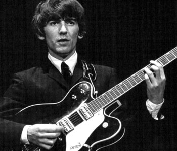 The Beatles' guitarist George Harrison played Gretsch guitars throughout his career